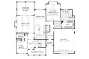 Farmhouse Style House Plan - 4 Beds 4 Baths 2545 Sq/Ft Plan #927-990 Floor Plan - Main Floor Plan