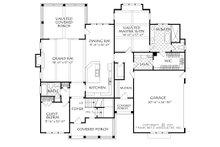 Farmhouse Floor Plan - Main Floor Plan Plan #927-990