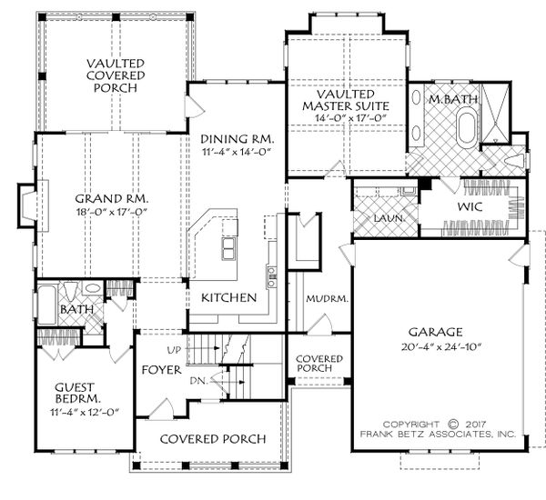 Farmhouse Floor Plan - Main Floor Plan Plan #927-990