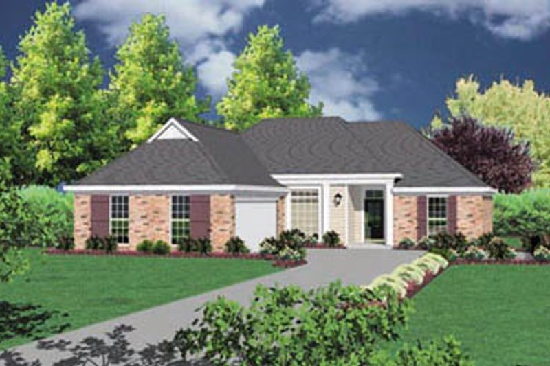 Traditional Exterior - Front Elevation Plan #36-135 - Houseplans.com