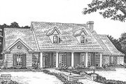 Traditional Style House Plan - 4 Beds 3 Baths 2529 Sq/Ft Plan #310-619 Exterior - Front Elevation