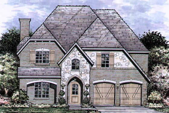 European Exterior - Front Elevation Plan #141-351