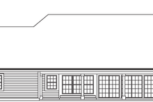 Contemporary Exterior - Rear Elevation Plan #57-583