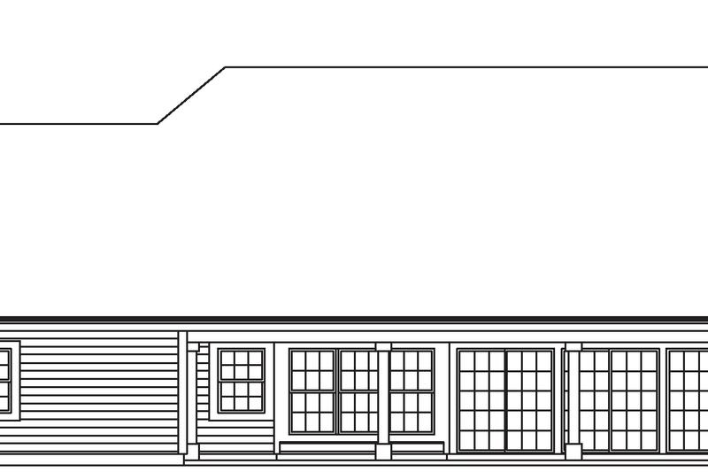 Contemporary Exterior - Rear Elevation Plan #57-583 - Houseplans.com