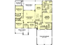 Craftsman Floor Plan - Main Floor Plan Plan #430-140