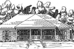Traditional Exterior - Front Elevation Plan #37-158