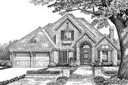European Style House Plan - 4 Beds 3.5 Baths 2708 Sq/Ft Plan #310-862 Exterior - Front Elevation