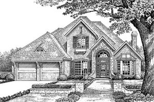 European Exterior - Front Elevation Plan #310-862