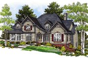 Colonial Style House Plan - 4 Beds 3.5 Baths 3489 Sq/Ft Plan #70-520 Exterior - Other Elevation