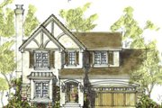 Tudor Style House Plan - 3 Beds 2.5 Baths 1715 Sq/Ft Plan #20-1223 Exterior - Front Elevation