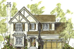 Tudor Exterior - Front Elevation Plan #20-1223