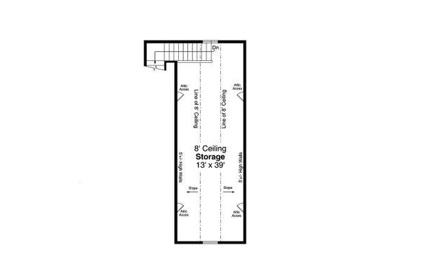 Traditional Floor Plan - Upper Floor Plan Plan #124-1196