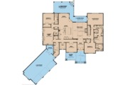 Craftsman Style House Plan - 4 Beds 4.5 Baths 4575 Sq/Ft Plan #923-110 Floor Plan - Main Floor Plan