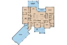 Craftsman Floor Plan - Main Floor Plan Plan #923-110
