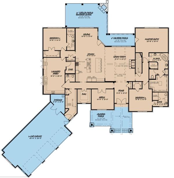 Dream House Plan - Craftsman Floor Plan - Main Floor Plan #923-110