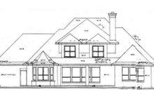 Architectural House Design - European Exterior - Rear Elevation Plan #52-169