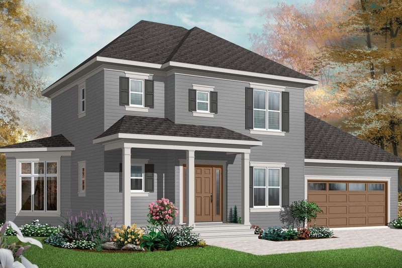 House Plan Design - Country Exterior - Front Elevation Plan #23-2405
