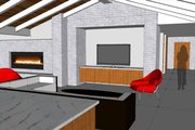 Modern Style House Plan - 3 Beds 3.5 Baths 3392 Sq/Ft Plan #449-15