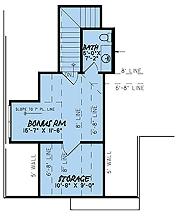 Craftsman Floor Plan - Upper Floor Plan Plan #923-144