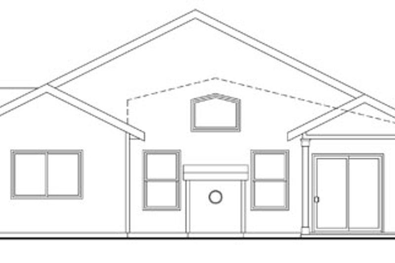 Traditional Exterior - Rear Elevation Plan #124-762 - Houseplans.com