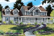 Country Style House Plan - 4 Beds 2.5 Baths 2673 Sq/Ft Plan #312-472 Exterior - Front Elevation