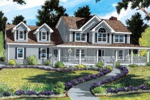 Country Exterior - Front Elevation Plan #312-472