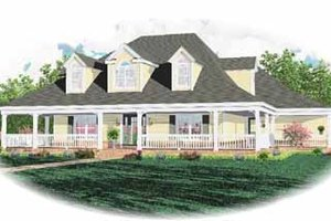 Country Exterior - Front Elevation Plan #81-248
