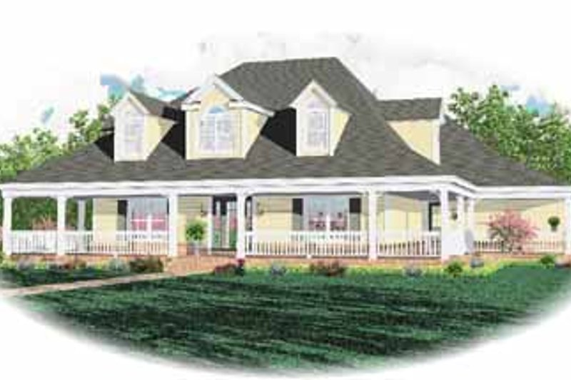 Country Style House Plan - 4 Beds 3.5 Baths 2343 Sq/Ft Plan #81-248 Exterior - Front Elevation
