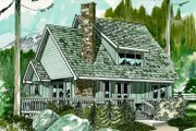 Cottage Style House Plan - 3 Beds 2 Baths 1573 Sq/Ft Plan #47-103 Exterior - Front Elevation