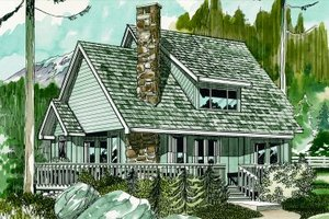 Cottage Exterior - Front Elevation Plan #47-103