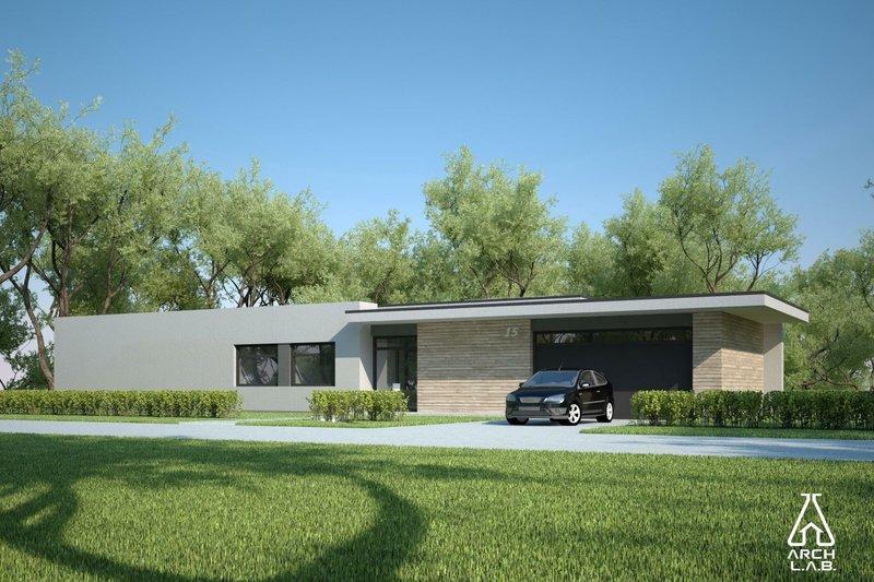 Modern Exterior - Front Elevation Plan #552-4