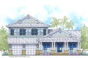 Cottage Style House Plan - 5 Beds 4 Baths 4127 Sq/Ft Plan #938-89 Exterior - Front Elevation
