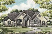 European Style House Plan - 3 Beds 4 Baths 2894 Sq/Ft Plan #20-1868 Exterior - Front Elevation