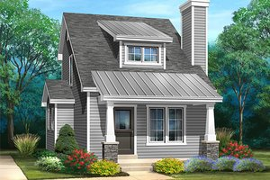 Dream House Plan - Bungalow Exterior - Front Elevation Plan #22-598