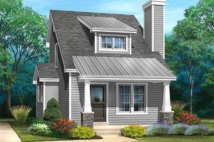 Bungalow Exterior - Front Elevation Plan #22-598