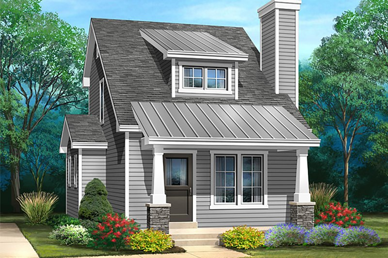 Dream House Plan - Bungalow Exterior - Front Elevation Plan #22-598