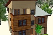 Contemporary Style House Plan - 3 Beds 3 Baths 1465 Sq/Ft Plan #512-4 Exterior - Other Elevation