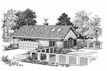 House Blueprint - Ranch Exterior - Front Elevation Plan #72-270