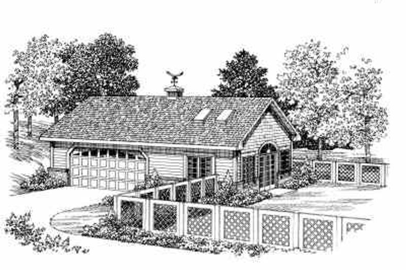 Ranch Exterior - Front Elevation Plan #72-270