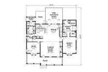 Country Floor Plan - Main Floor Plan Plan #419-245