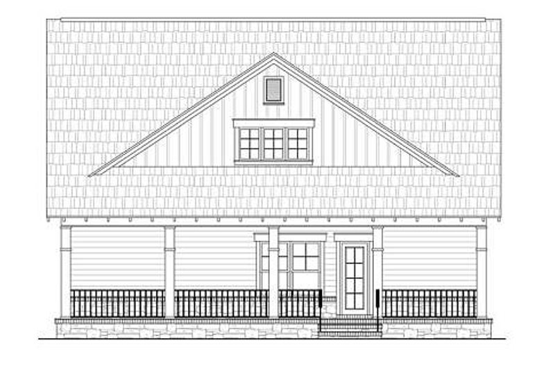 Craftsman Exterior - Rear Elevation Plan #21-263 - Houseplans.com