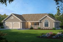 House Design - Traditional Exterior - Front Elevation Plan #93-102