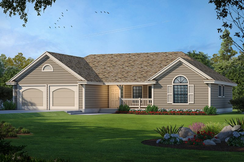 Architectural House Design - Traditional Exterior - Front Elevation Plan #93-102