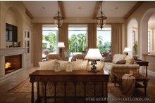 Architectural House Design - Mediterranean Interior - Family Room Plan #930-12