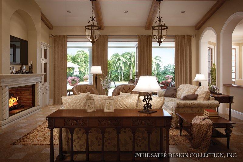 Mediterranean Interior - Family Room Plan #930-12 - Houseplans.com