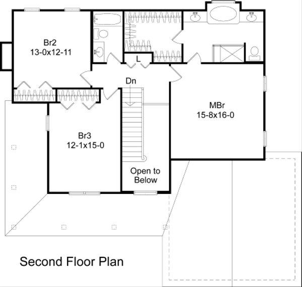 Country Floor Plan - Upper Floor Plan Plan #22-520
