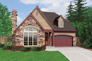 Cottage Exterior - Front Elevation Plan #48-567