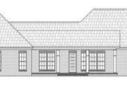 European Style House Plan - 3 Beds 2.5 Baths 1900 Sq/Ft Plan #21-270 Exterior - Rear Elevation