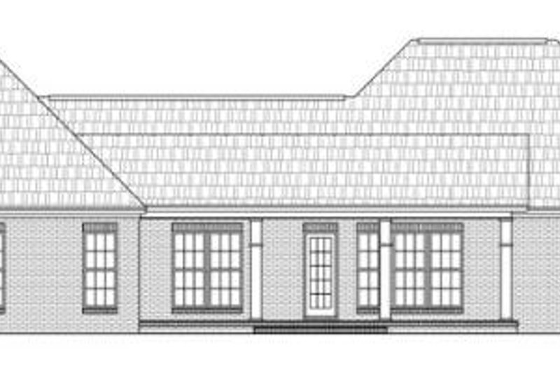 European Exterior - Rear Elevation Plan #21-270 - Houseplans.com