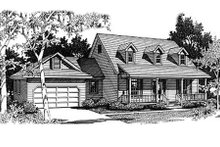 Home Plan - Country Exterior - Front Elevation Plan #14-211